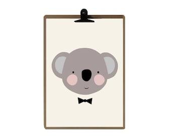 Koala nursery print - Nursery art prints - baby nursery decor - nursery wall - Children Art - Kids Room
