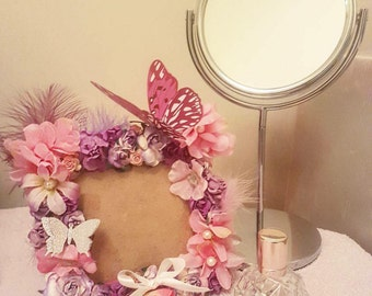 Bespoke Shabby chic Floral Picture Frame