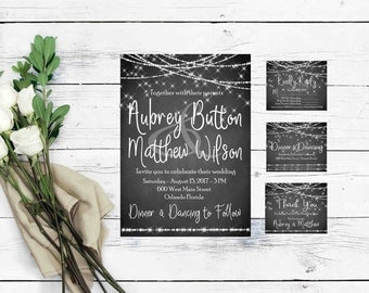 Rustic Wedding Invitation Templates- Wedding Invitations- Country Wedding Invitation- Printable Wedding Invitations- Rustic Wedding Suite