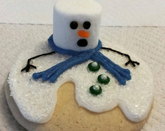 Melting Snowman Christmas Cookie - sold by the dozen