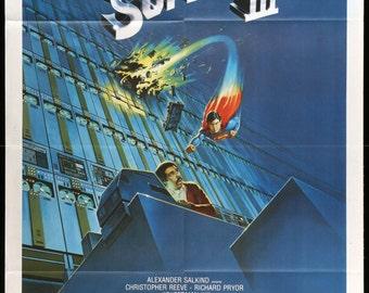 """Superman III (1983) Italian One-Panel Poster - 39"""" x 55"""""""
