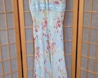 Vintage Silk Midi Dress