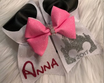Minnie Mouse Sister Cheer Bows~Minnie Mouse~Minnie~Disney Cheer Bow~Disney Vacation Accessories~Hair Bows~Cheer Bows~Cheerleading Bows