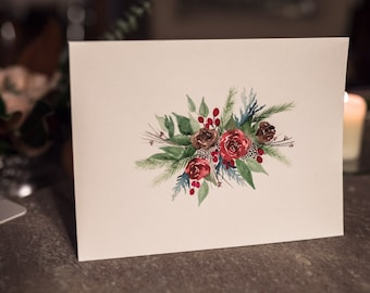 Original Floral Painting - Holiday