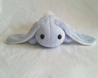 Light Blue Bunny Bun Plushie