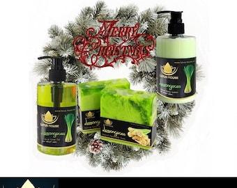 Christmas Gift Set - Lemongrass Natural Soaps and Lotions