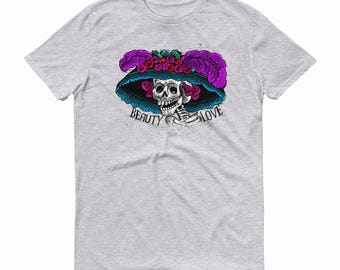 Catrina T-shirt, Sugar Skull, Day of the Dead T-shirt, Dia de los Muertos, Shirt, Catrina Tee, Day of the Dead Tee, Catrina with Hat