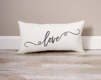Love Pillow | Monogrammed Valentine's Gift | Gifts For Her | Valentine's Day Gift | Rustic Decor | Monogrammed Pillow | Valentine's Decor