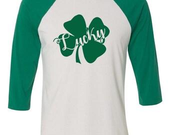 Lucky Shirt, Shamrock Shirt, Cute Irish Shirt, Cute St. Patricks Shirt