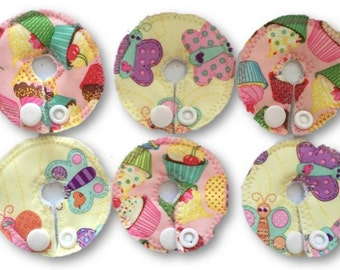 Set of 6 Assorted G tube pads Feeding Tube covers