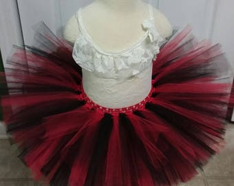 Free Shipping Mix of Red and Black Fluffy Tutu Skirt-Baby Tutu Skirt-infant Tutu Skirt-photo Prop
