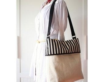 Shoulder bag, Canvas messenger bag, Folded over bag