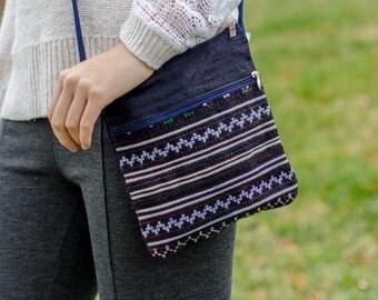 Cross body Bag Pattern - Light Stripes -  Cloth Purse - Crossbody Purse - Patterned pouch - Clutch Bag - Small Purse