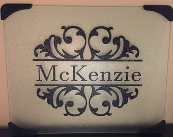 Personalized Glass Cutting Board
