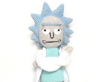 Amigurumi Rick And Morty : Rick and morty toy Etsy
