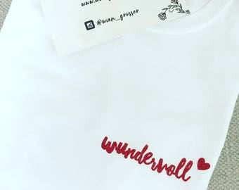 Wonderful ladies T-Shirt red glitter
