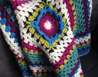 Crochet Flower Granny Blanket