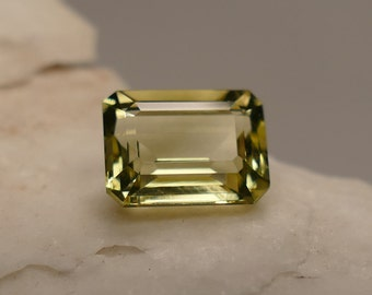 Video! 9x7mm VVS Nice natural Heliodor octogon cut 2.34ct from Madagascar Yellow golden Beryl loose faceted gemstone for ring (#PB25)