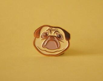 Sad Pug Soft Enamel Pin