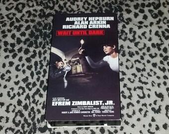 Wait Until Dark [VHS] Audrey Hepburn Horror Thriller vhs Rare Cult Thriller Vhs Alan Arkin Richard Creena Vhs Mystery Action Vhs