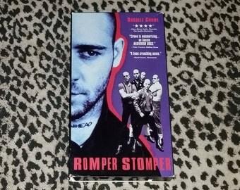 Romper Stomper [VHS] Unrated Uncut Cult Classic Australian Film Skin Head Film Harcore Punk Movie Drama Russell Crowe Punk Cult VHS Tape 90s
