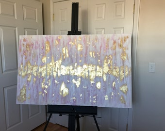 Large Scale Abstract Gold Leaf Painting