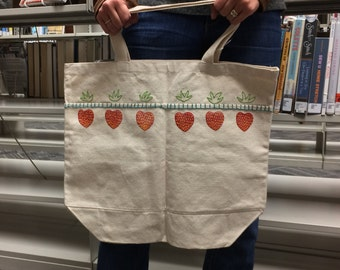 Topless Strawberry Tote