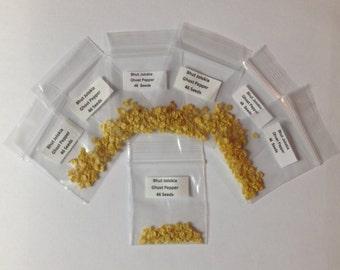 46 ea Ghost Pepper Bhut Jolokia Seeds - ORGANIC Kentucky Grown - Hot Hot Hot !!!