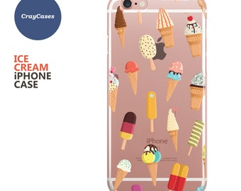 Ice Cream iPhone 7 Case, Ice Cream iPhone 7 Plus Case, Also Available for 6, 6s, 6 Plus & 6s Plus (Shipped From UK)