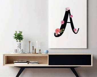 Nursery Monogram Art | Wall Print Monogram Wall Print | Letter Wall Print Letter | Nursery Monogram Decor | Nursery Monogram Wall Print