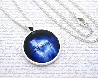 Always, Harry Potter, Silver Doe Patronus, Lily and Snape Necklace or Keychain, Keyring