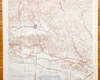 Antique Sabana Grande, Puerto Rico 1941 US Geological Survey Topographic Map - San Germán, Yauco, Guanica, Valle De Lajas