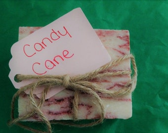 Homemade Candy Cane Soap