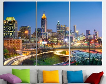 Atlanta Georgia Atlanta City Atlanta Canvas Atlanta skyline Atlanta print Atlanta photo Atlanta poster Atlanta wall art Atlanta wall decor