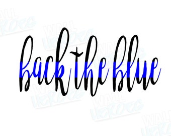 Back the Blue Car Decal | Car Decal | Window Decal | USA Decal | 2nd Amendment Decal | Gun lover | Gun rights | Gun owner | America