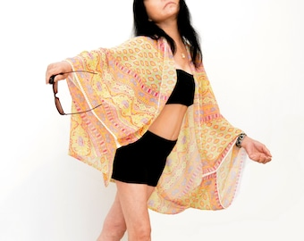 Sporty cardigan, bikini wraps, Coachella cape, boho cardigan, stylish lady's cape, summer cardigan, poncho tunic, swimsuit cover up