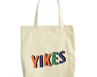 Tumblr Tote Bag, Yikes Tote Bag, Tumblr Bag, Yikes Bag, Funny Tote Bag, Canvas Tote Bag, Printed Tote Bag, Reusable Grocery Bag, Shopper Bag