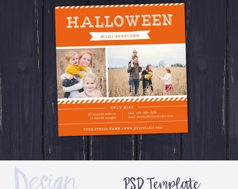 Halloween Mini Session Template | Fall Mini Session Template | Family Mini Session Design | Photoshop Mini Session Template Photography