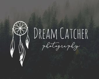 Dreamcatcher Logo, Boho Logo, Feather Logo, Bohemian Logo, Tribal Logo, Yoga Logo, Premade Logo Design, Craft Logo, Boho Chic Logo