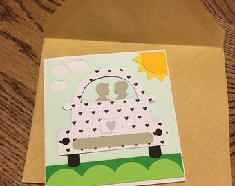 Bridal Shower Card, Engagement Card, Newly Weds Card, Happy Couple Card