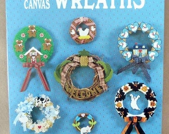 Plastic Canvas Patterns - Plastic Canvas Wreaths - Plastic Canvas Baby Wreath - Plastic Canvas Holiday Wreath - Plastic Canvas Cat Wreath