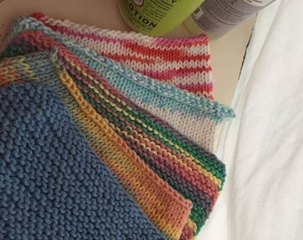 Handmade Knitted Dishcloths