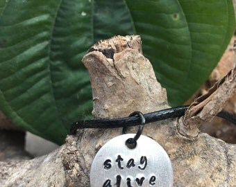 Stay alive necklace