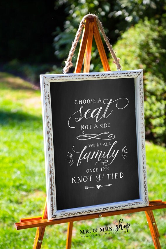 Printable Chalkboard Sign Choose A Seat Not A Side Chalkboard