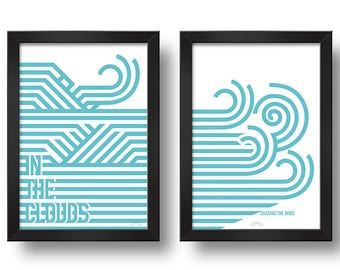 CLOUDS&WIND Paired frames Digital print Design art
