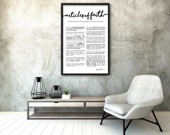 """Extra Large Articles of Faith Print 24 x 36""""- LDS"""