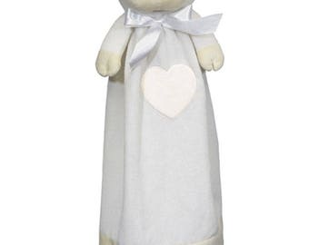 Personalized lamb blankie, lamb baby blanket, baby shower gift idea, customized baby blanket, plush blankie