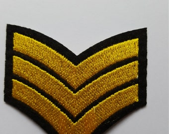 Sargent Chevrons Military Army Sargent Stripes Iron On Patch