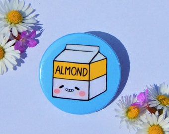 Almond milk badge, Vegan badge