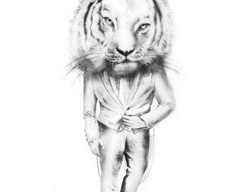 The Tiger. (8x10 inch Art Print)
